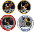 Explorers:Space Exploration, Apollo 11 Related Embroidered Patches (Four) Originally from the Personal Collection of Buzz Aldrin. ...