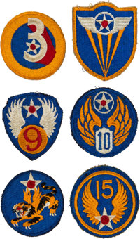 Buzz Aldrin: Collection of Six Vintage Air Force Patches Originally from His Personal Collection