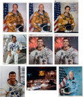 """Explorers:Space Exploration, NASA Apollo and Space Shuttle Astronaut Signed Color Photos (Nine), All Inscribed to """"Jonathan.""""..."""