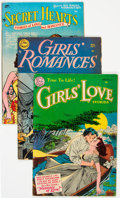 Golden Age (1938-1955):Romance, Comic Books - Assorted Golden Age Romance Comics Group of 3(Various Publishers, 1950s) Condition: Average VG+.... (Total: 3Comic Books)