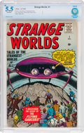 Silver Age (1956-1969):Science Fiction, Strange Worlds #1 (Atlas, 1958) CBCS FN- 5.5 Off-white pages....