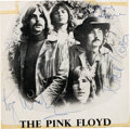 Music Memorabilia:Autographs and Signed Items, Pink Floyd Signed Magazine Page (circa 1970s). ...