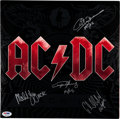 Music Memorabilia:Autographs and Signed Items, AC/DC Signed Black Ice LP (Columbia 88697 38377 1, 2008)....