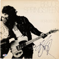 Music Memorabilia:Autographs and Signed Items, Bruce Springsteen Signed Born to Run LP Cover (Columbia,1975)....