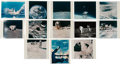 "Explorers:Space Exploration, Apollo 16: Group of Twelve Vintage NASA Kodak Color Photos including the Famous John Young ""Leaping Salute"" Image. ..."