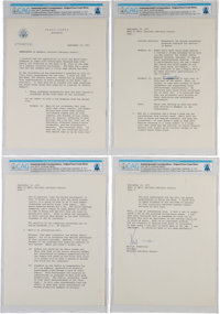 Neil Armstrong Typed Letter Signed Regarding Korea Visit as Peace Corps National Advisory Council Chairman, Direct