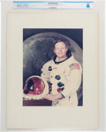 Explorers:Space Exploration, Apollo 11: Neil Armstrong Large White Spacesuit Vintage NASA Color Photo on Presentation Mat Directly From The Armstrong Famil...