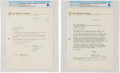 Explorers:Space Exploration, Boy Scouts: Two Typed Signed Letters on Boy Scout Letterhead to Neil's Father Stephen Armstrong, 1970, Directly From The Armst...