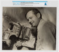 Explorers:Space Exploration, Soviet Union 1970 Visit: COSPAR XIII Conference Photo of Neil Armstrong Operating Soviet Control System With Soviet Official D...