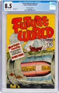 Golden Age (1938-1955):Non-Fiction, Future World Comics #2 Mile High Pedigree (George W. Dougherty,1946) CGC VF+ 8.5 Off-white to white pages....