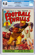 Golden Age (1938-1955):Miscellaneous, Football Thrills #1 Mile High Pedigree (Ziff-Davis, 1951) CGC VF/NM 9.0 White pages....