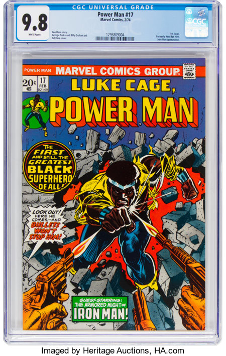 Power Man #17 (Marvel, 1974) CGC NM/MT 9.8 White pages....