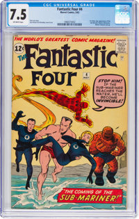 Fantastic Four #4 (Marvel, 1962) CGC VF- 7.5 Off-white pages