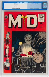 M.D. #5 Gaines File pedigree 4/10 (EC, 1955) CGC NM- 9.2 Off-white pages