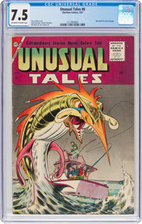 Unusual Tales #6 (Charlton, 1957) CGC VF- 7.5 Off-white to white pages