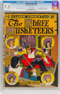 Golden Age (1938-1955):Classics Illustrated, Classic Comics #1 The Three Musketeers (Gilberton, 1941) CGC VF- 7.5 Off-white pages....