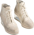 Music Memorabilia:Memorabilia, Prince Owned and Stage-Worn White Suede Shoes....