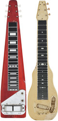 Musical Instruments:Lap Steel Guitars, Two Lap Steel Guitars & Two Lap Steel Cases.... (Total: 4 )