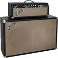 Musical Instruments:Amplifiers, PA, & Effects, 1965 Fender Bassman Black Guitar Amplifier, Serial # A 07290.... (Total: 2 )