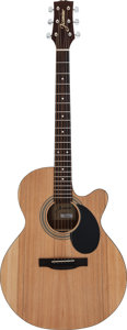 Musical Instruments:Acoustic Guitars, Modern Jasmine S34C Natural Acoustic Guitar, Serial # 015082126....