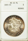 1885-CC $1 MS63 Prooflike ANACS. NGC Census: (202/336). PCGS Population: (378/680). CDN: $726 Whsle. Bid for problem-fre...