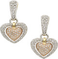 Estate Jewelry:Earrings, Diamond, Gold Earrings, Chimento. ...