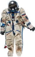 Explorers:Space Exploration, Russian Sokol KV-2 Pressurized Spacesuit Still in Use on Soyuz Flights, Developed and Manufactured by NPP Zvezda (НПП ЗВЕЗДА)....