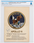 Explorers:Space Exploration, Neil Armstrong Signed Apollo 11 Embroidered Mission Insignia Patch Presentation Folder Directly From The Armstrong Family ...