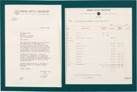 Buddy Holly & The Crickets Letter and Billing Statement