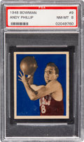 Basketball Cards:Singles (Pre-1970), 1948 Bowman Andy Phillip #9 PSA NM-MT 8 - Only Two Higher....