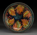Ceramics & Porcelain, Moorcroft Pottery Leaf and Berry Pattern Charger. Circa 1930. Signed Moorcroft. Impressed MADE IN ENGLAND...
