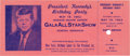 Political:Small Paper (1896-present), John F. Kennedy: Madison Square Garden Birthday Party Ticket....