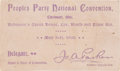 Political:Small Paper (1896-present), [Wharton Barker]: People's Party Convention Ticket.... (Total: 2 Items)