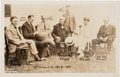Political:Small Paper (1896-present), Calvin Coolidge: Real Photo Postcard Featuring Family Members and Industrialists....
