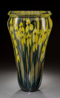 Art Glass:Other , Large John Littleton Millefiori Glass Daffodil Vase. Circa1999. Engraved (cipher), 1999. Ht. 15-5/8 in. . ...