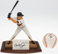 Baseball Collectibles:Hartland Statues, Cal Ripken Jr. Figurine & Single Signed Baseball....