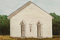 Fine Art - Work on Paper, Dennis Blagg (American, b. 1951). Building with Two Doors.Watercolor on paper. 23-1/2 x 35-1/4 inches (59.7 x 89.5 cm) ...