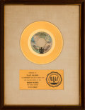"Music Memorabilia:Awards, Five Stairsteps ""O-o-h Child"" RIAA White Matte Gold Sales Award (Buddah BDA 165, 1970). ..."