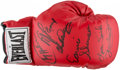Boxing Collectibles:Autographs, Boxing Greats Multi-Signed Everlast Glove....