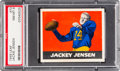 Football Cards:Singles (Pre-1950), 1948 Leaf Jackie Jensen (Red Background) #73 PSA NM-MT 8 - PopThree, None Higher. ...