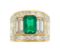 Estate Jewelry:Rings, Colombian Emerald, Diamond, Gold Ring, Yanes. ...
