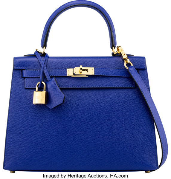 ... Luxury Accessories Bags, Hermès 25cm Blue Electric Epsom Leather  Sellier Kelly Bag with GoldHardware ... 2c92b3cb18