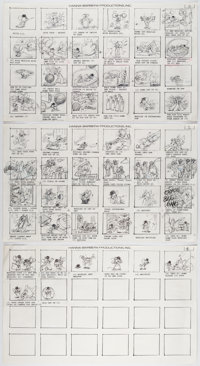 The Art of Hanna-Barbera Tom and Jerry Storyboard Recreation
