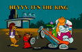 Animation Art:Presentation Cel, Heyyy, It's the King! Publicity Cel and Painted Background (Hanna-Barbera, 1977)....