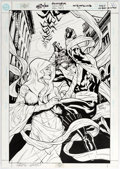 Original Comic Art:Covers, Greg Land and Karl Story Nightwing #49 Cover Original Art (DC, 2000)....