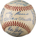 Autographs:Baseballs, 1959 New York Yankees Team Signed Baseball (25 Signatures)....