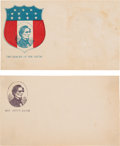 Political:Small Paper (pre-1896), Jefferson Davis: Pair of Civil War Patriotic Covers.... (Total: 2 Items)