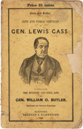Political:Small Paper (pre-1896), Lewis Cass: Campaign Biography in Pictorial Wraps....