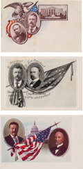 Political:Small Paper (1896-present), Roosevelt & Fairbanks: Three Different Jugate Postcards.... (Total: 3 Items)