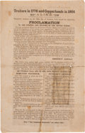 Political:Small Paper (pre-1896), [Abraham Lincoln]: Anti-Copperhead 1864 Handbill....